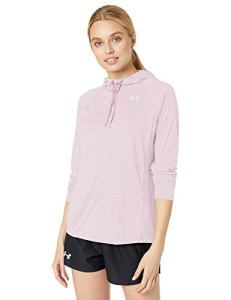 Under Armour Tech Hoody 2.0- Twist T-Shirt Manches Longues Femme Rose FR : S (Taille Fabricant : SM)