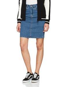 Vero Moda Vmhot Nine Hw DNM Pencil Skirt Mix Noos Jupe, Bleu (Medium Blue Denim Medium Blue Denim), 38 (Taille Fabricant Femme