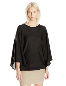 BCBGMAXAZRIA Women's Shania Drapped Pullover Sweater, Black, Medium