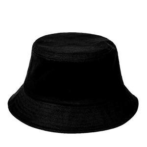 FISHSHOP Unisexe Chapeau de pêcheur Chapeau de Seau Pêcheur en Coton Bonnet UV Protection de Soleil Bucket Hat pour Soleil Plage Camping Randonnée