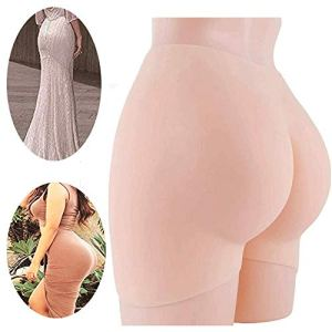 Full Silicone Hips Butt Enhancer Culottes Body Shaper 2cm Thinckness Blanc Nude sous-vêtements pour Les Femmes Drag Queen,Yellow-OneSize