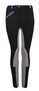 GS Equestrian Kerry Jodhpurs pour Femme, Femme, Noir/Gris, Size UK 8