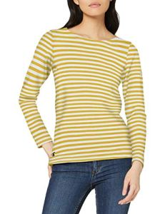 Joules Harbour T-Shirt À Manches Longues, Jaune (Gold Stripe Gold Stripe), 42 (Taille Fabricant: 14) Femme