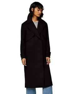 Marque Amazon – find. Luxury Trench – Manteau – Femme, Noir (Black), 38, Label: S