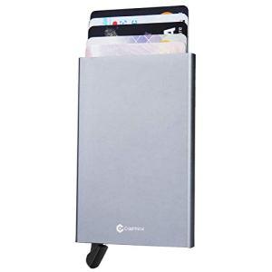 RFID Blocage Portefeuille Porte-Cartes, en Aluminiumen, Automatique Pop-up