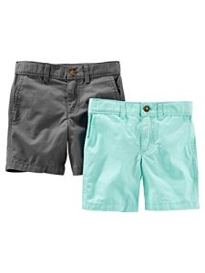 Simple Joys by Carter's Lot de 2 Shorts Plats Avant, Menthe/Gris, US 3T (EU 98–104)