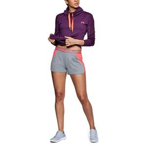 Under Armour New Play Up 3 » Short 2.0 1 Sport, Gris (True Gray Heather/Brilliance/Brilliance (031), Unique (Taille Fabricant: Medium) Femme