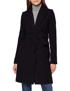 Vero Moda Vmcalalyon 3/4 Jacket Manteau, Noir (Black Black), 38 (Taille Fabricant: Small) Femme