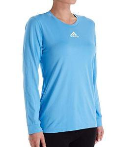 Adidas Creator Top à manches longues pour femme Bleu clair/blanc 2XL