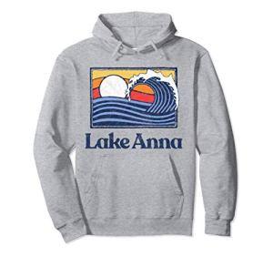 Lake Anna Retro Surfer Vintage Beach & Wave Graphic Sweat à Capuche