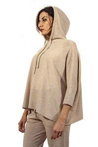 Mivania Cashmere D1900234 T-shirt à capuche – Beige – Taille Unique