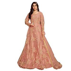 Pinkkart 4083 Anarkali Filet ethnique brodé pour femme – – 48