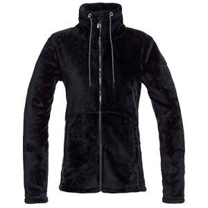 Roxy Tundra Veste polaire pour femme – Noir – Large (43)