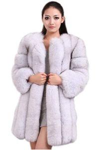 Saoirse Manteau d'hiver Chaud en Fourrure véritable pour Femme – Blanc – XXX-Large