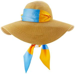 Tommy Hilfiger Tommy Beach Fedora Chapeau, Jaune (Sun Ray Mix Zfb), Unique (Taille Fabricant: OS) Femme