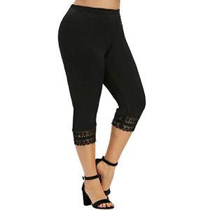 topxingch Pantalons De Yoga Pour Femmes, Taille Haute, Leggings De Sport, Bas De Jogging, Pantalons En Dentelle, Shorts De Course D'entraînement Noir XL
