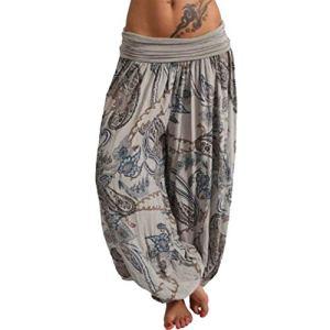 topxingch Pantalons De Yoga Pour Femmes, Vêtements De Yoga, Leggings De Yoga, Vêtements De Sport, Pantalons Longs, Pantalons Amples Gris XL