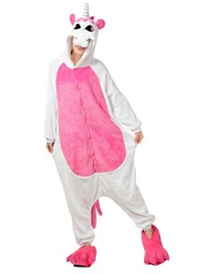 Très Chic Mailanda Unisexe Kigurumi Cosplay Combinaison Pyjama ou Déguisement (Licorne Rose Taille M)