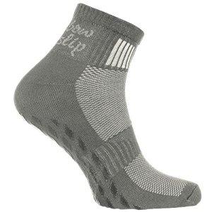 1 paire de Chaussettes Gris Antidérapantes ABS Idéal pour les Sports: Yoga, Fitness, Pilates, Arts Martiaux, Danse, Gymnastique, Trampoline Tailles 39-41, le Coton Respirant, Confort pour les pieds