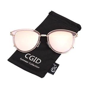 CGID MJ85 Rétro Polarisé Des lunettes de soleil Double Cercle Miroir UV400 Lentille Métal Cadre
