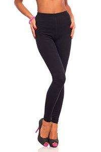 futuro fashion jambières coton pleine longueur tous coloris toutes les tailles actif pantalon sport pantalon – Noir, EU 54