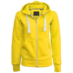 Generic – Sweat à capuche – Uni – Femme – jaune – 36