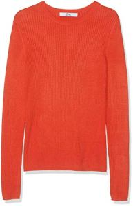Marque Amazon – find. Pull Col Ras du Cou Femme, Rouge (Rot), 42, Label: L