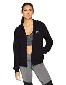 Nike 853930-010 Sweat-Shirt à Capuche Femme, Noir/Noir/Noir/Blanc, FR : XS (Taille Fabricant : XS)