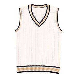 QIYUN.Z Costumes De Cosplay Unisexs V-Neck Sans Manches Sweat Vest Waistcoat Tricots