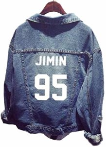 SERAPHY unisexe BTS KPOP Pull Veste en jean BTS Sweats à capuche pour ARMY Bangtan Boys Pulls Suga Jin Jimin Jung Kook J-Hope Rap-Monster V 95j