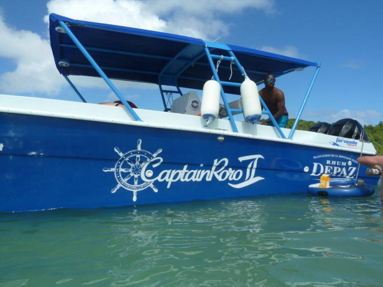 Captain Roro bateau journée iguane martinique depaz