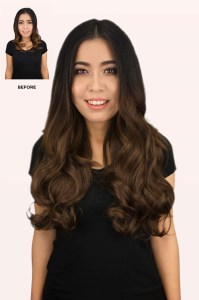 "0070 - 24"" curly clip on hair extensions over 400g 2+2 pieces"