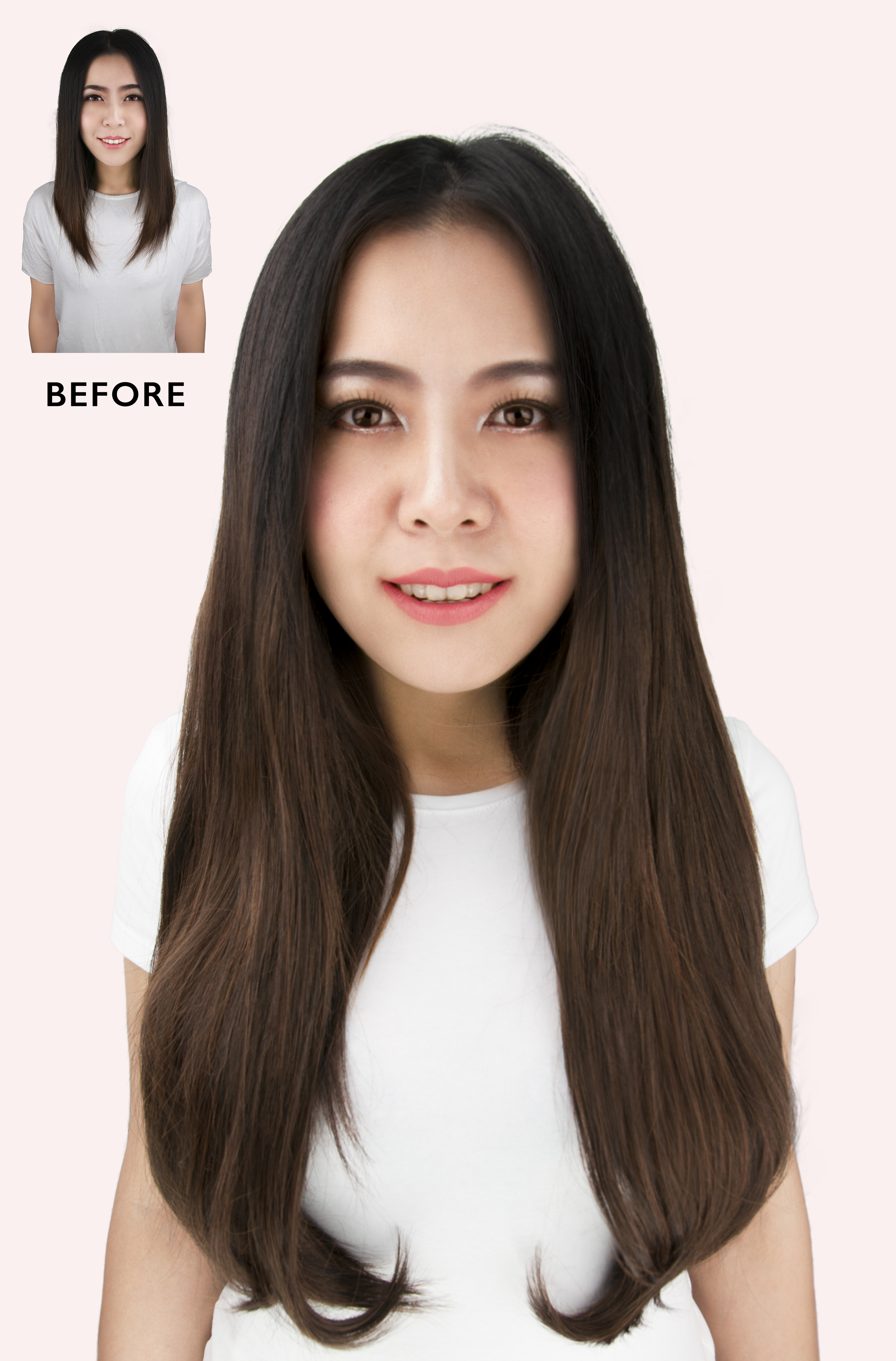 24 Bombshell Super Thick 5 Piece Straight Clip In Hair Extensions