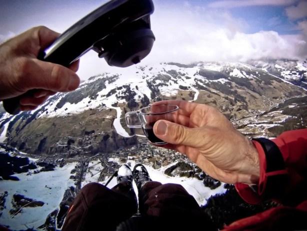 Paragliding with espresso