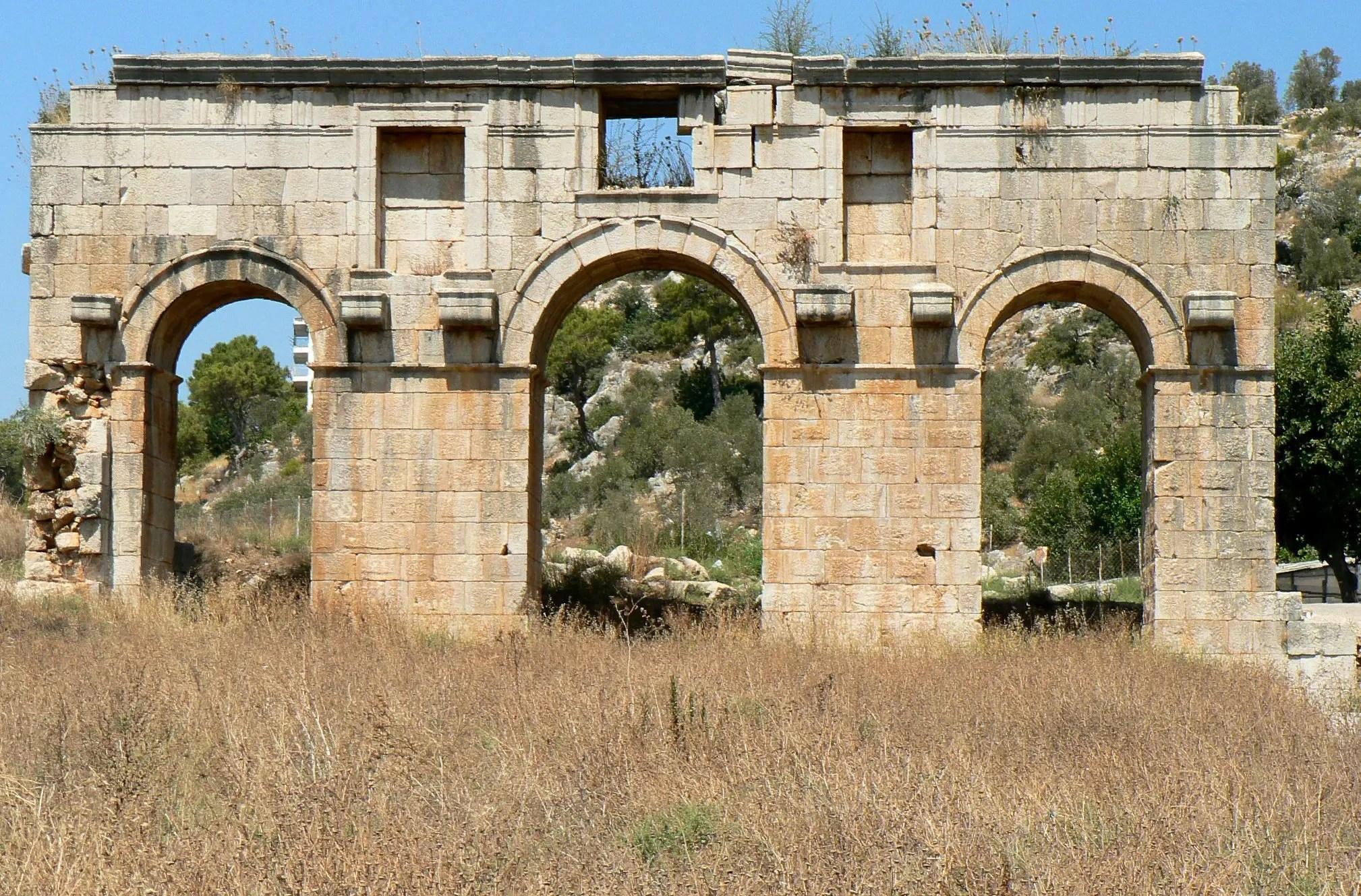 Ancient Roman Gate in Patara (Lycia) Turkey