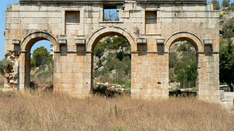 Ancient Roman Gate in Patara (Lycia) Turkey