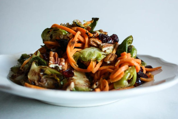 Sweet Potato and Brussel Spout Salad with Maple Glaze