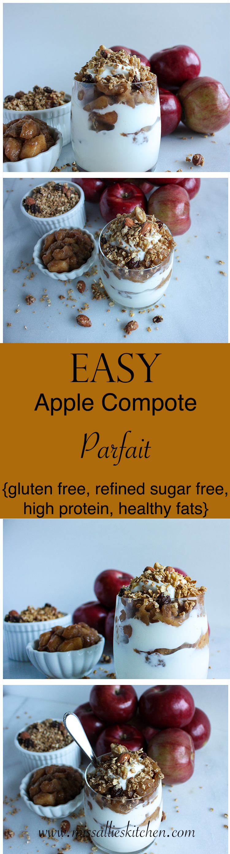 Easy Apple Compote Parfait - and easy, seasonal and protein packed breakfast idea!