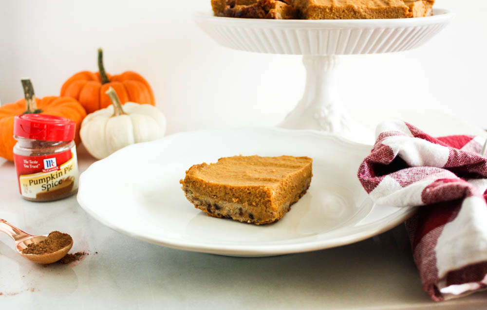 Healthy Pumpkin Spice Bars
