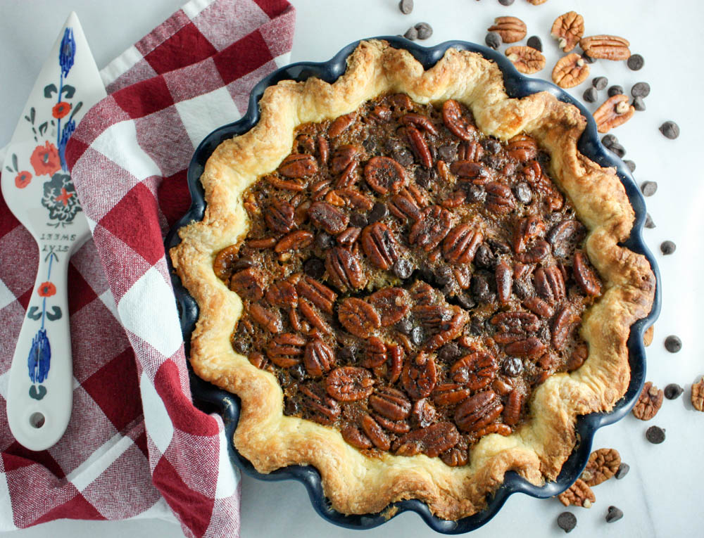 Pecan Pie With Chocolate and a Homemade Crust