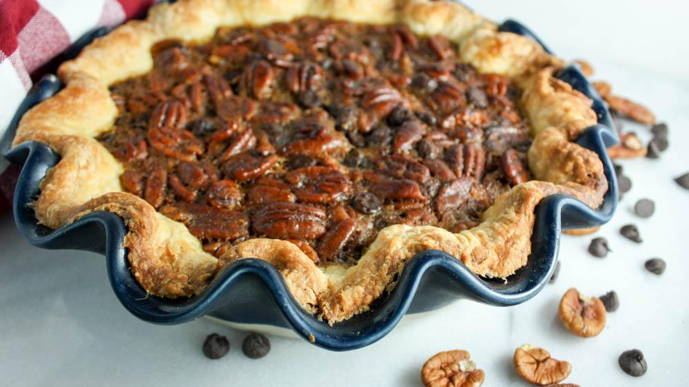 Chocolate Filled Pecan Pie