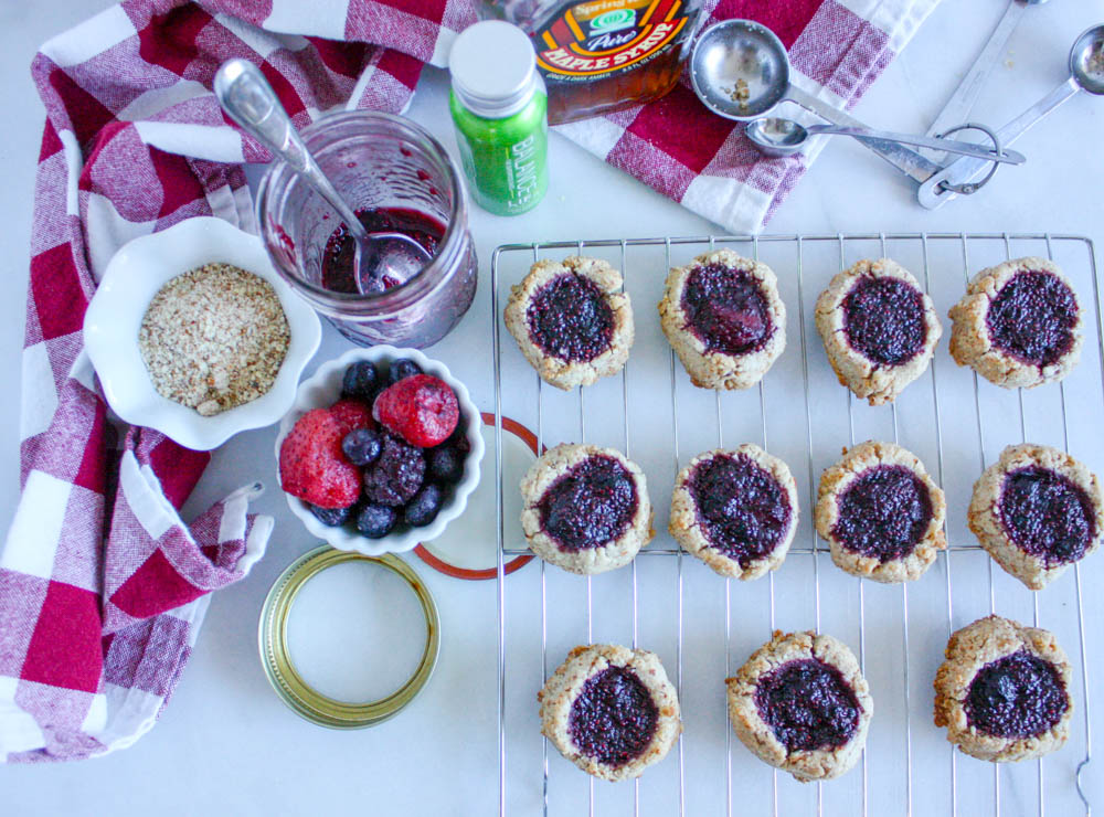 Fruity Overnight Thumbprint Cookies
