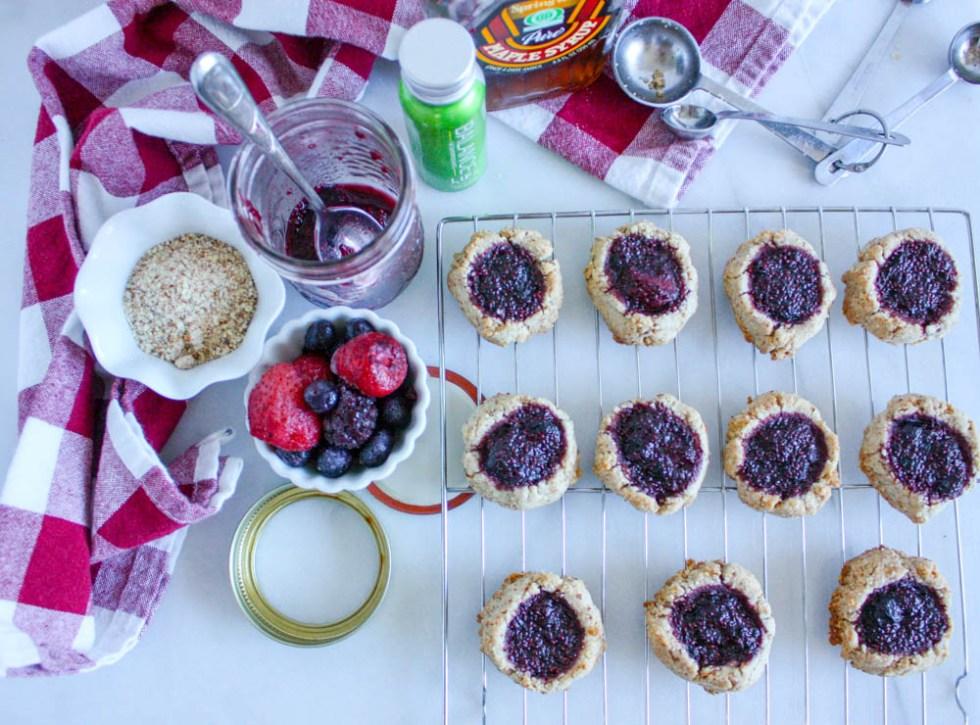 Fruity Overnight Thumbprint Cookies