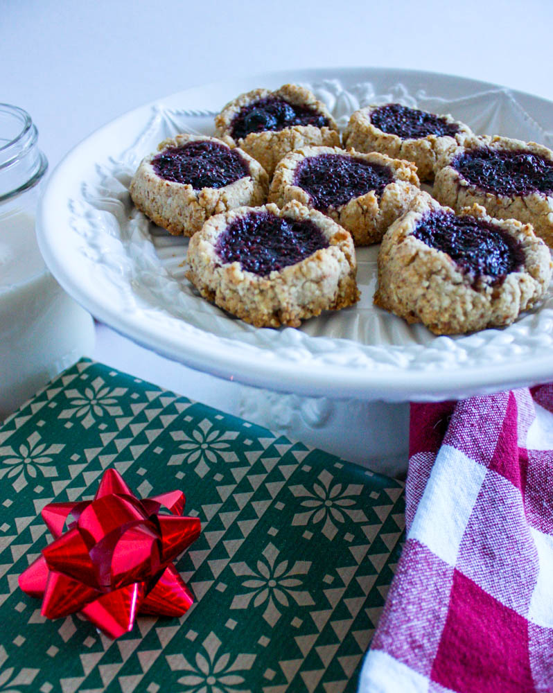 Festive Thumbprint Cookies
