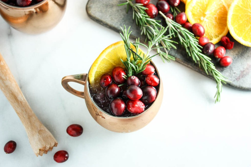 Festive Favorite Orange-Cran Moscow Mule