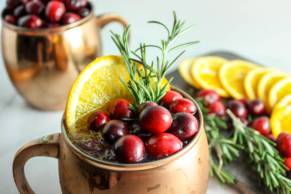 Cranberry & Orange Infused Moscow Mule