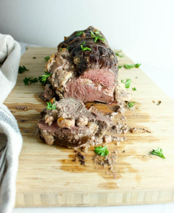 Apple Walnut Stuffed Tenderloin