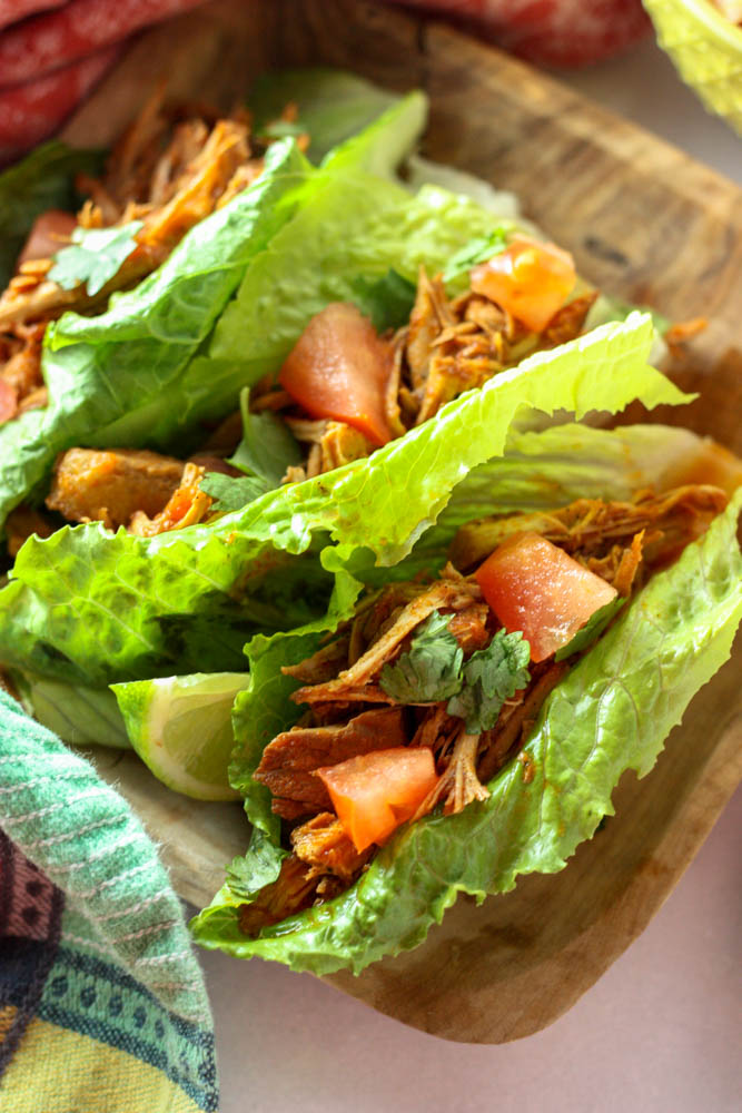 Clean eating pork tacos in the slow cooker!