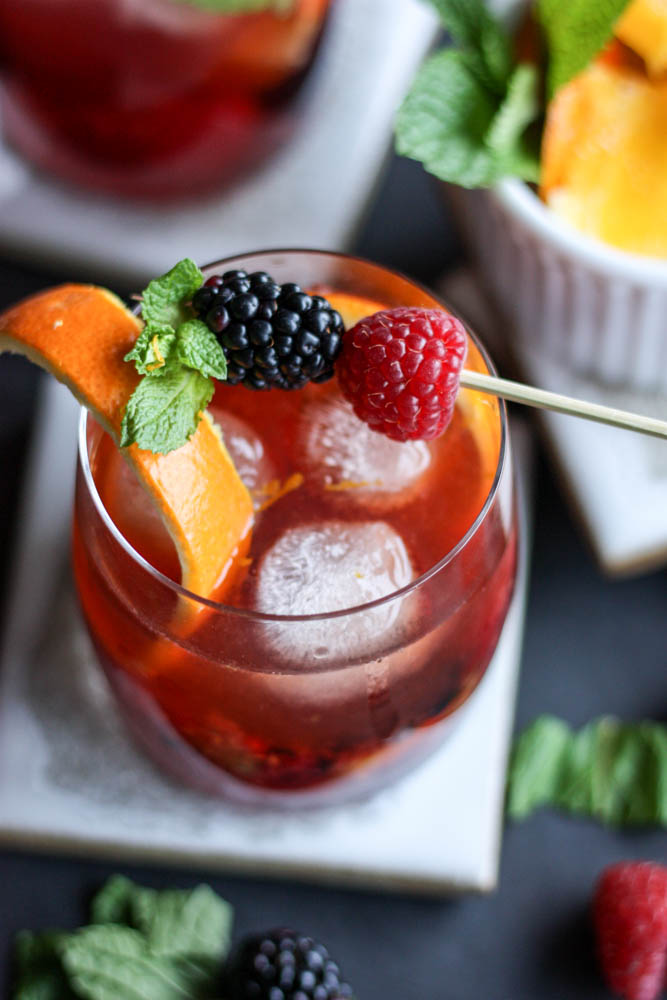 Blackberry Raspberry Old Fashioned
