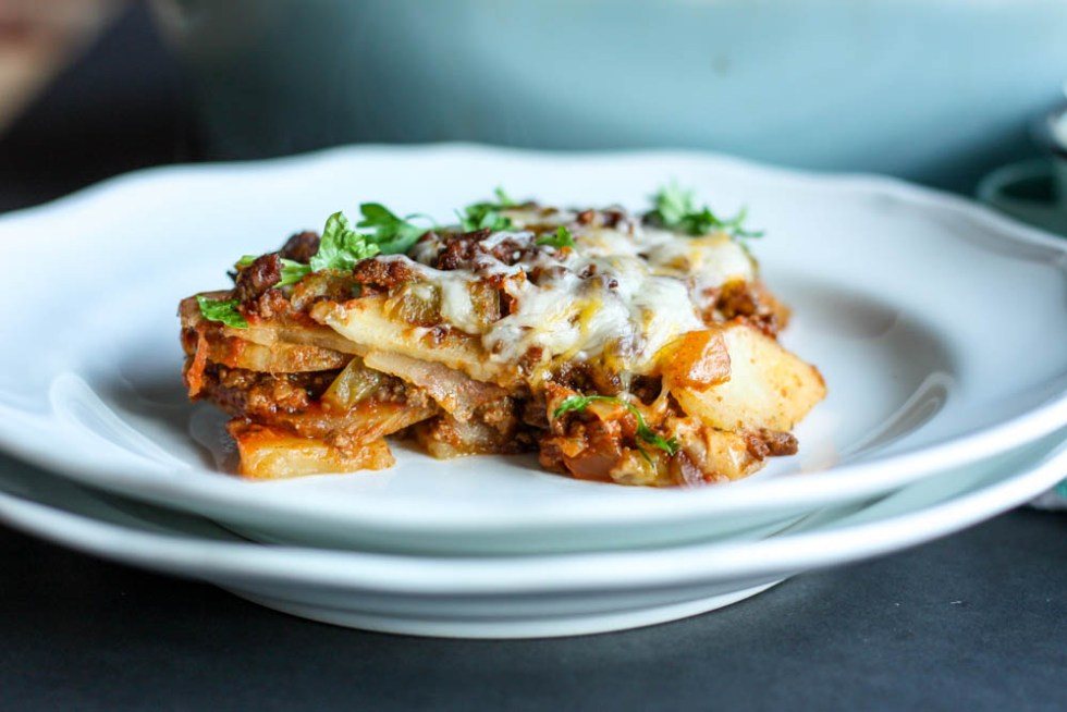 Sliced Tex Mex Lasagna